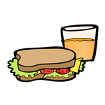 sandwich and drink