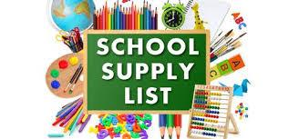 School Suppy Lists 20-21